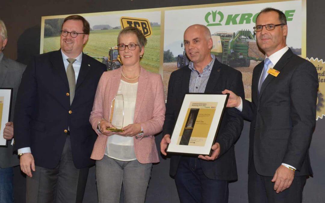 Lohnunternehmen Marketingpreis 2017 geht an LU Werner Zöller